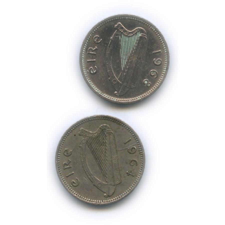 Набор монет 3 пенса 1964, 1968 (Ирландия)