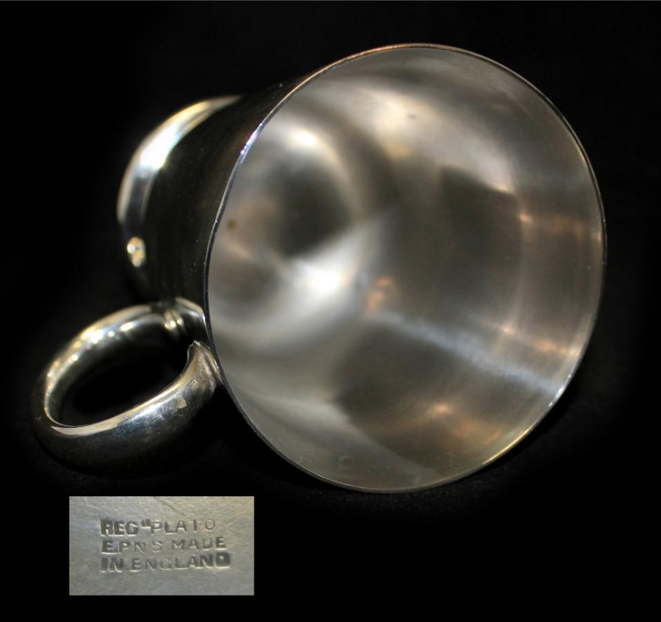 Кружка «Plato» (серебрение, 10 см) (Великобритания)