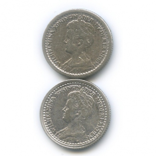 Набор монет 10 центов 1916, 1919 (Нидерланды)
