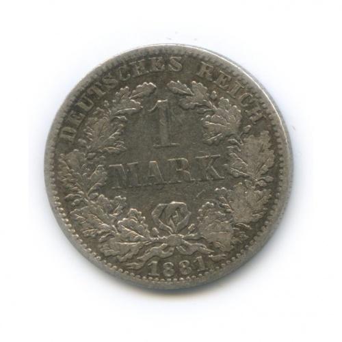 1 марка 1881 года А (Германия)