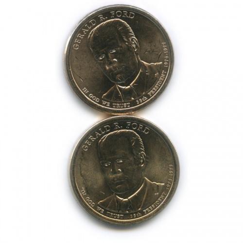 Набор монет 1 доллар — 38-й Президент США - Джеральд Рудольф Форд (1974–1977) 2016 года (США)
