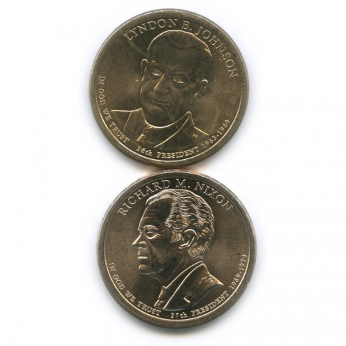 Набор монет 1 доллар - Президенты США 1915, 1916 Р (США)
