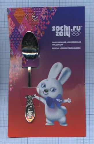 Ложка чайная «Сочи 2014», новая (официальная лицензионная продукция) (Россия)