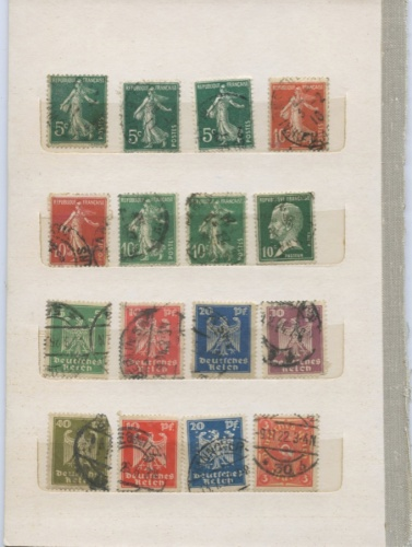 Набор почтовых марок (Германия, Франция)