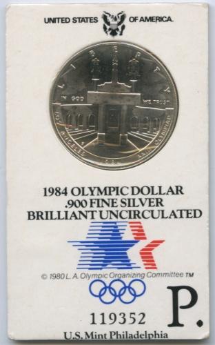 1 доллар — XXIII летние Олимпийские Игры, Лос-Анджелес 1984 1984 года P (США)