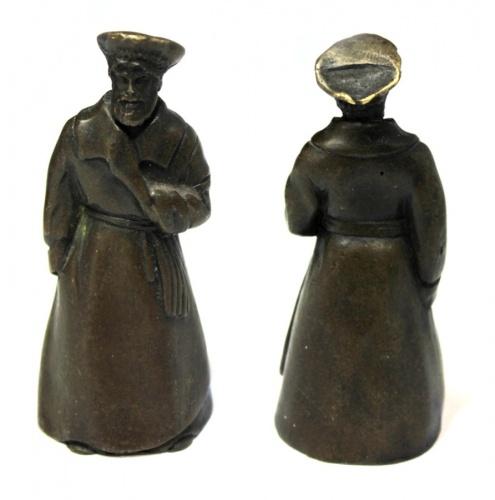 Статуэтка-колокольчик «Мужик» (бронза, современный сувенир), 9,5 см