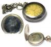 Часы карманные «Leijona - Ancre - 15 Rubis» (800 проба серебра, клейма, сфутляром, диаметр 5 см), Швейцария-Финляндия