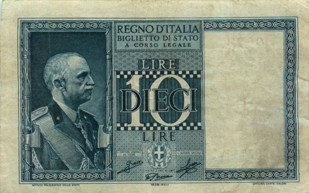 10 лир 1939 года (Италия)