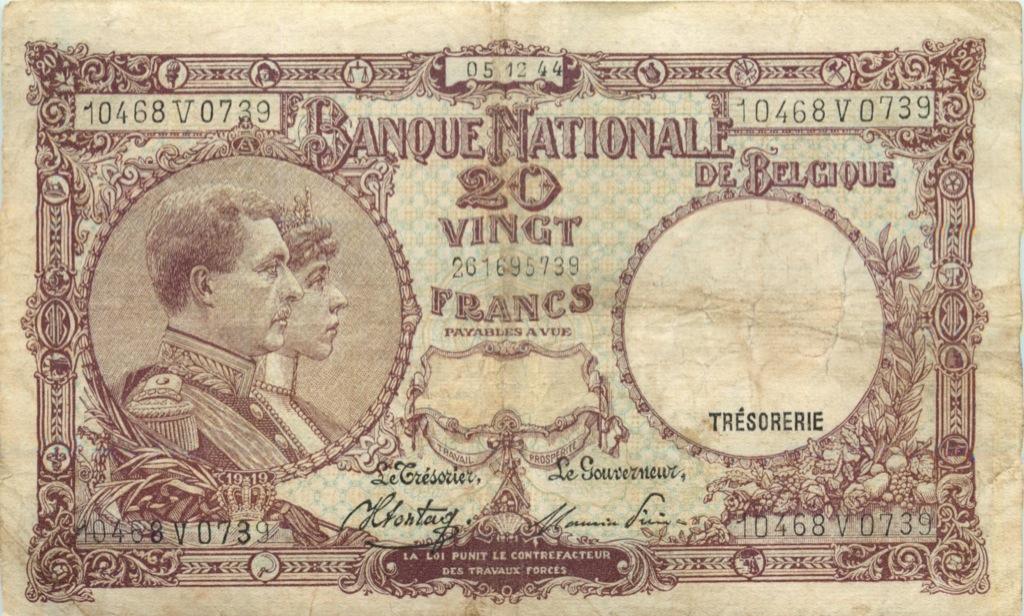 20 франков 1944 года (Бельгия)