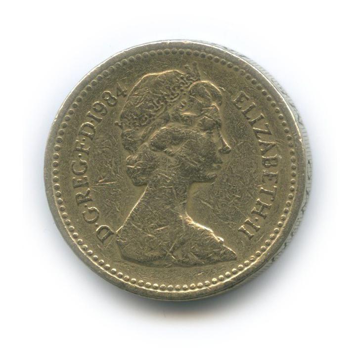 1 фунт - Геральдическое растение Шотландии - куст репейника 1984 года (Великобритания)