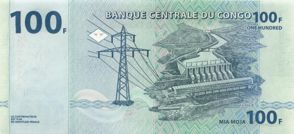 100 франков (Конго) 2007 года