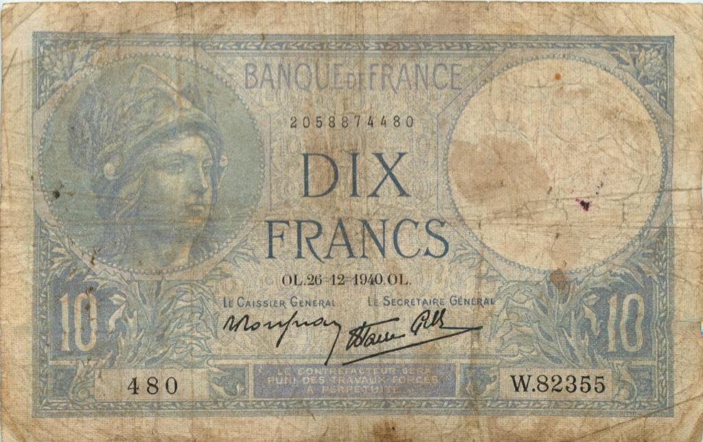10 франков 1940 года (Франция)