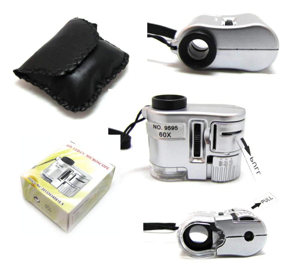 Микроскоп 60Х LED UV MICROSCOPE (в чехле)