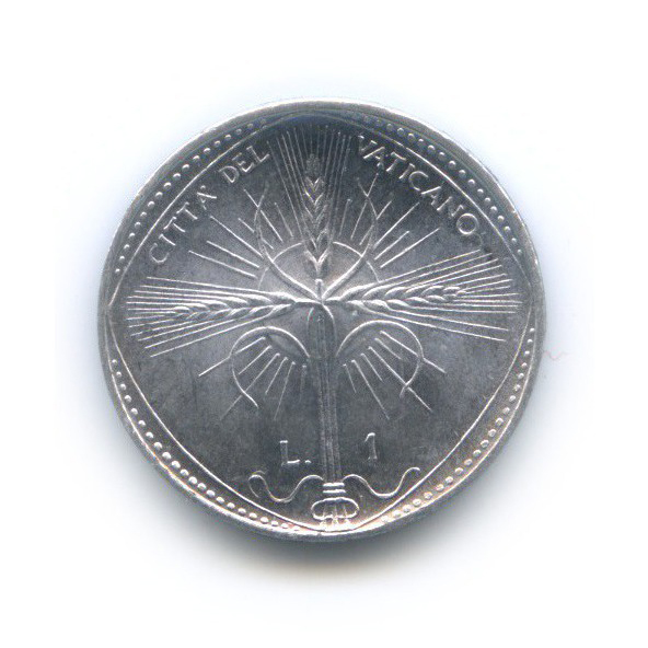 1 лира 1968 года (Ватикан)