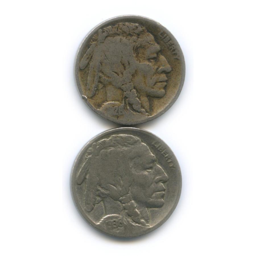 Набор монет 5 центов 1926, 1936 Р (США)