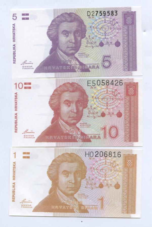 Набор банкнот 1991 года (Хорватия)