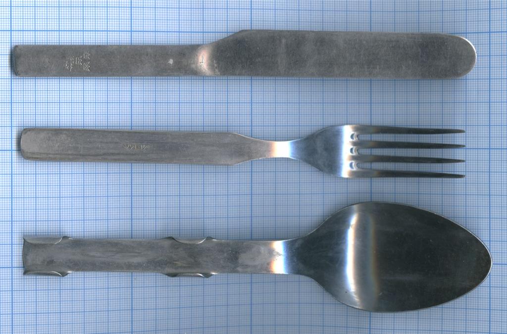 Набор столовых приборов: ложка, вилка, нож (Швеция)