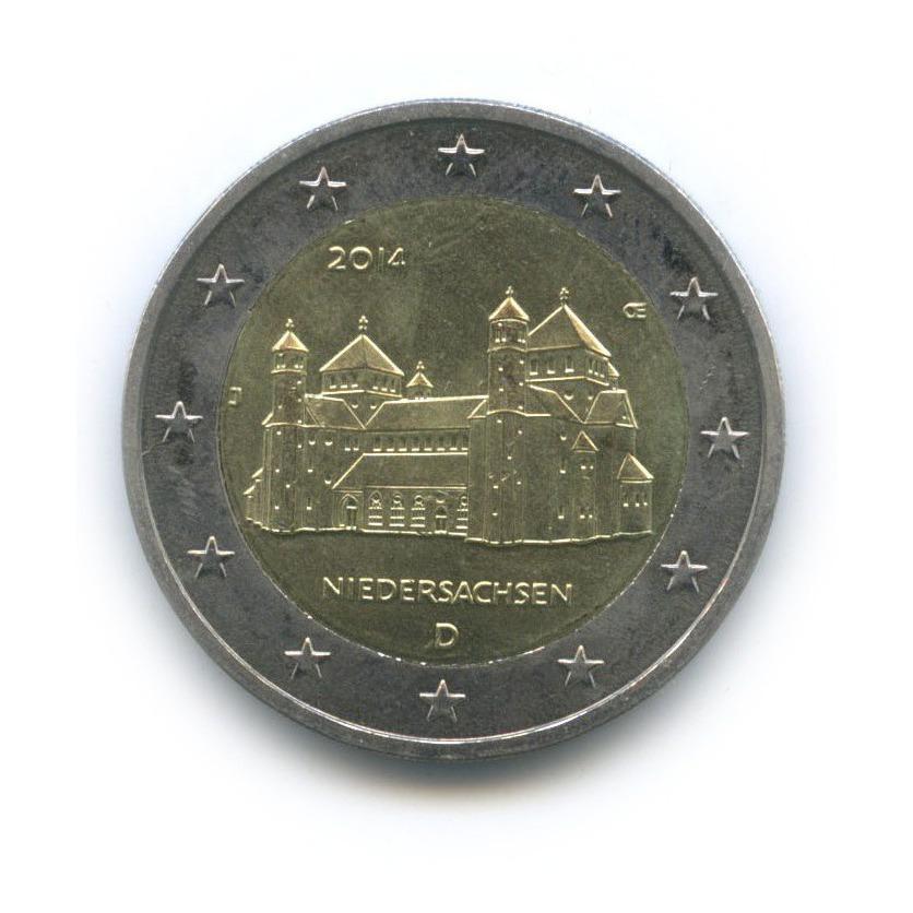 2 евро - «Федеральные земли Германии»: Хильдесхайм (Церковь св. Михаила) 2014 года (Германия)