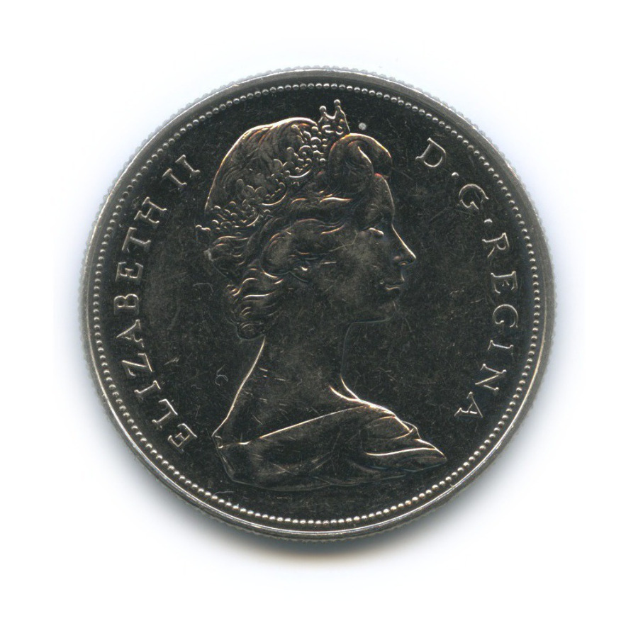 1 доллар — 100 лет содня присоединения Британской Колумбии 1971 года (Канада)