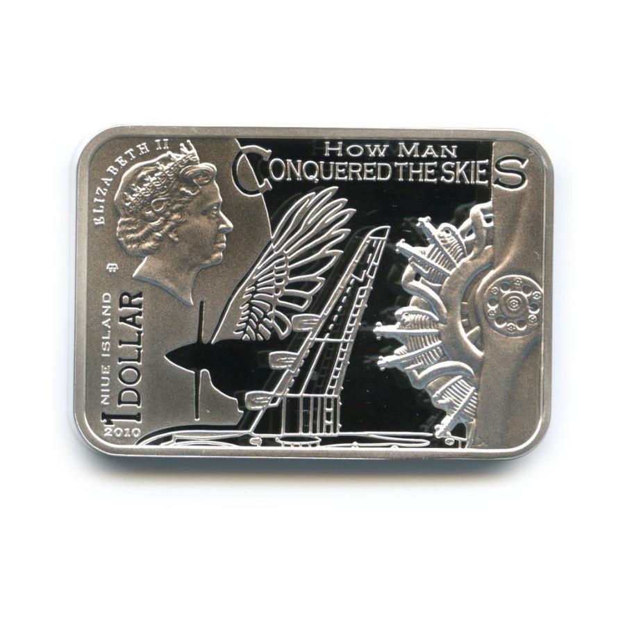 1 доллар - Как человек покорял небо - Икар, Ниуэ (ссертификатом) 2010 года