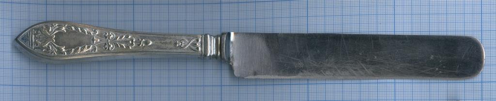Нож «ТРЕМАСС» (20-е гг., дизайн - Бр. Грачевы «Грифоны», серебрение, 27 см) (СССР)