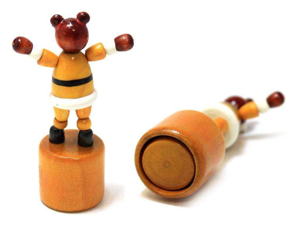 Игрушка «Медведь» (гибкий, налеске, 8,5 см) (СССР)