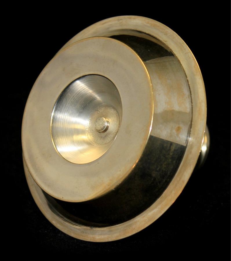 Подсвечник (латунь, серебрение, 6 см)