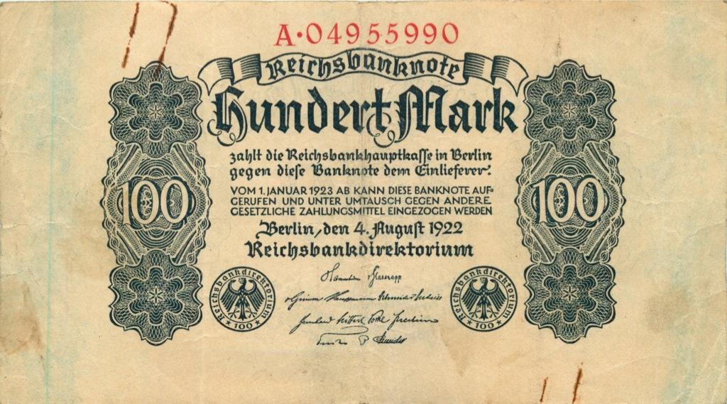 100 марок, Берлин 1922 года (Германия)
