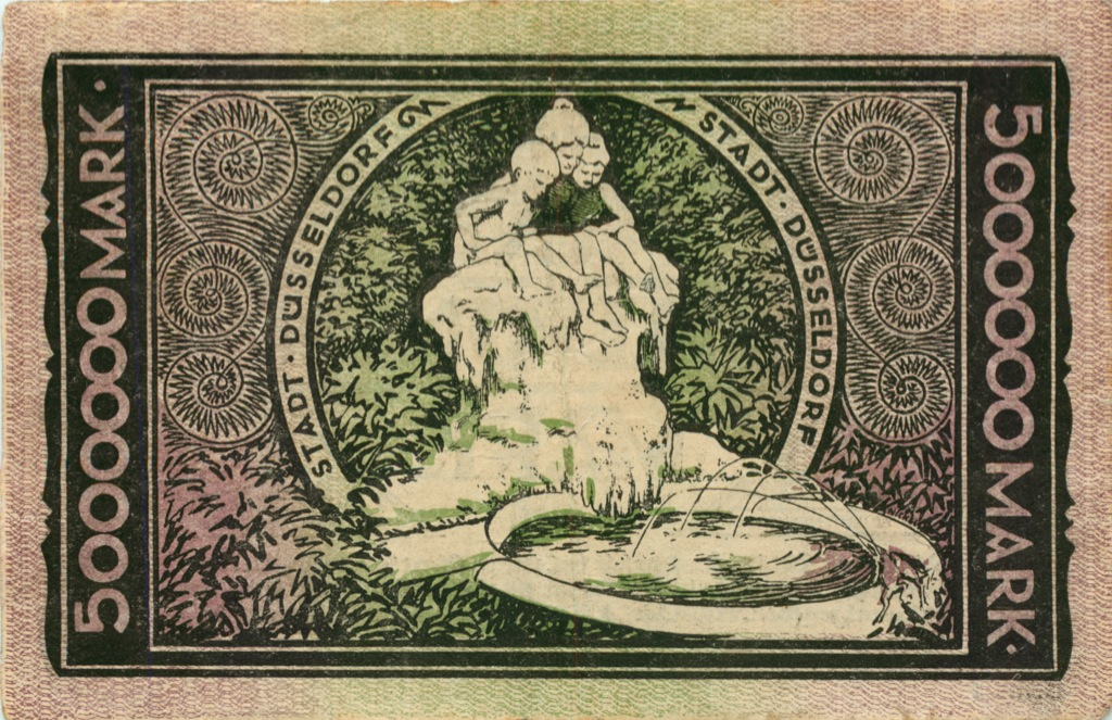 5 миллионов марок, Дюссельдорф 1923 года (Германия)