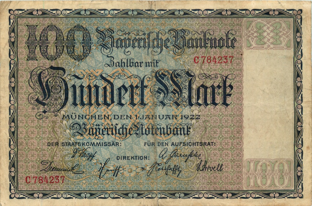 100 марок 1922 года (Германия)
