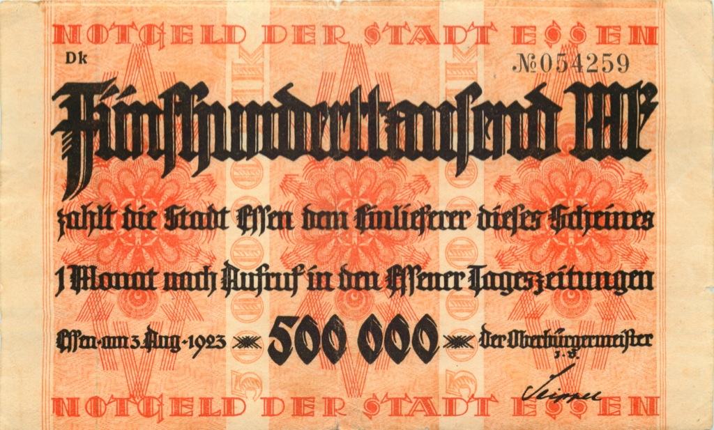 500000 марок (нотгельд, Эссен) 1923 года (Германия)