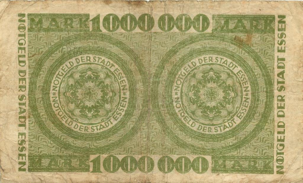 1 миллион марок (нотгельд, Эссен) 1923 года (Германия)