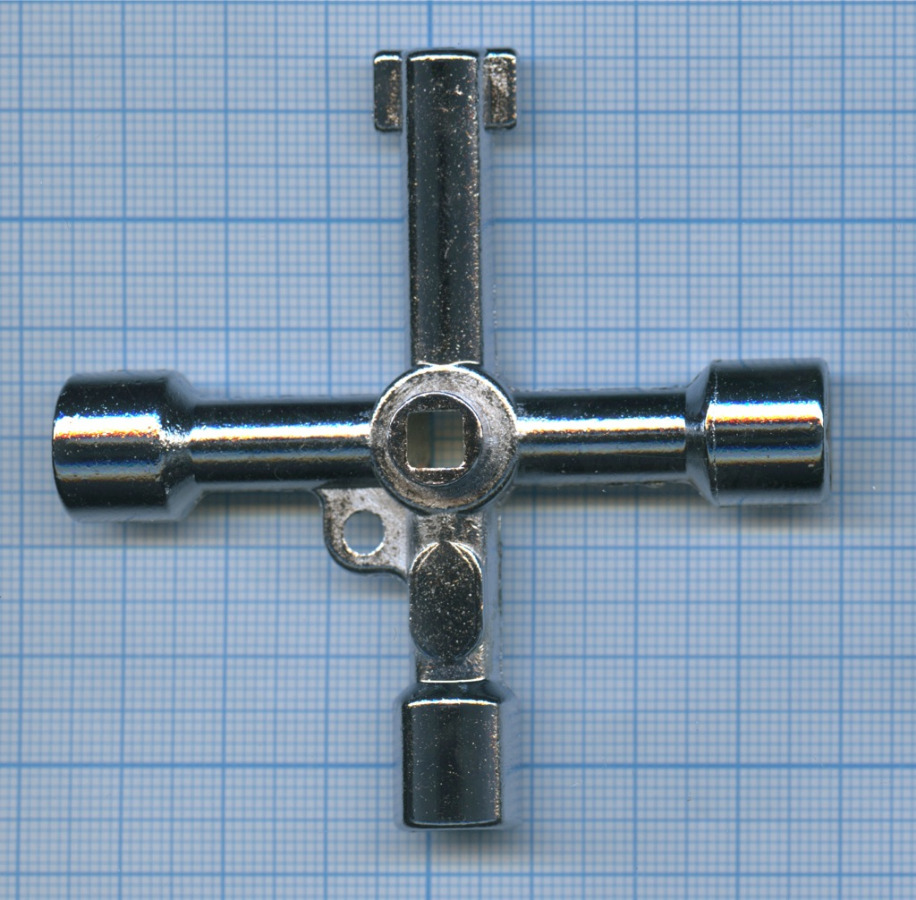 Универсальный ключ проводника (треугольные иквадратные ключи для замков в ж/д вагоне)