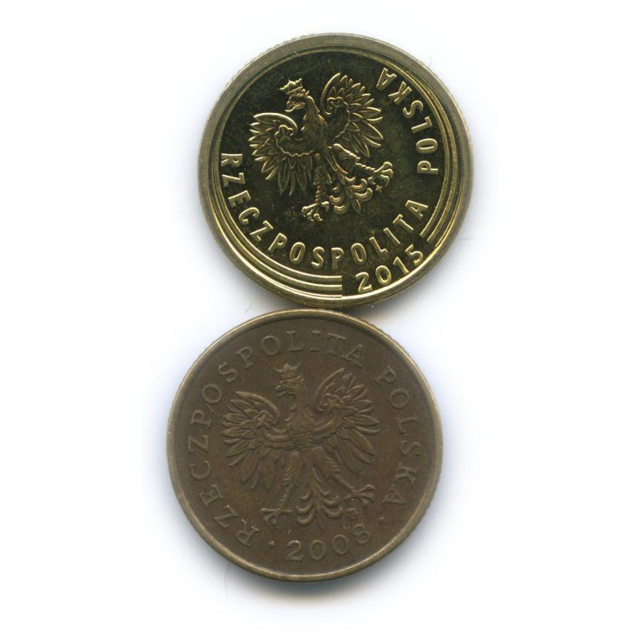 Набор монет 5 грошей 2008, 2015 (Польша)