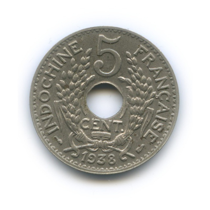 5 сантимов, Французский Индокитай 1938 года
