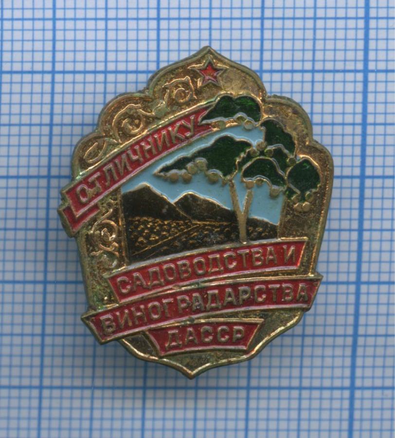 Знак «Отличнику садоводства ивиноградоводства ДАССР» (СССР)