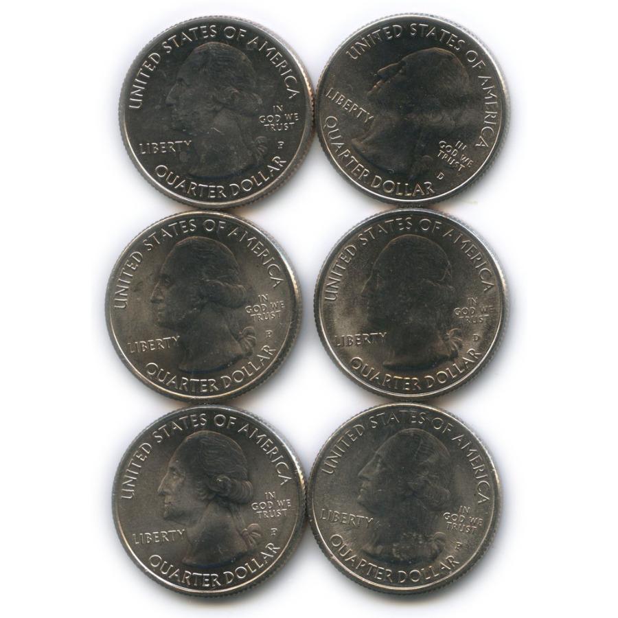 Набор юбилейных монет 25 центов (квотер) 2015 года (США)