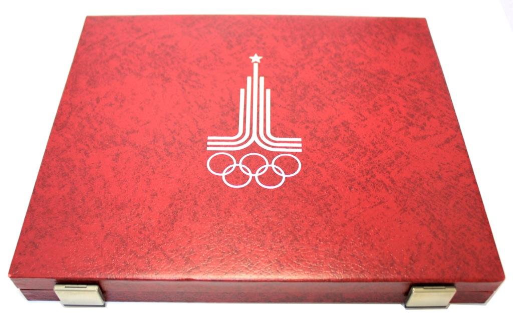 Футляр для монет «Олимпийские игры, Москва 1980» (28 ячеек) (Германия)