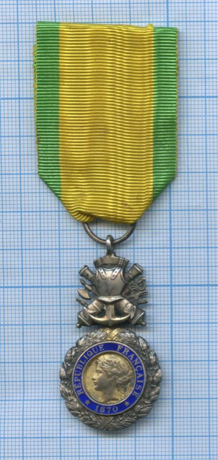 Медаль «Valeur etDiscipline» 1870 года (Франция)