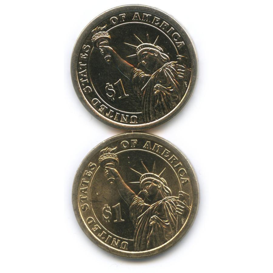 Набор монет 1 доллар — Президенты США 2010, 2016 Р, D (США)