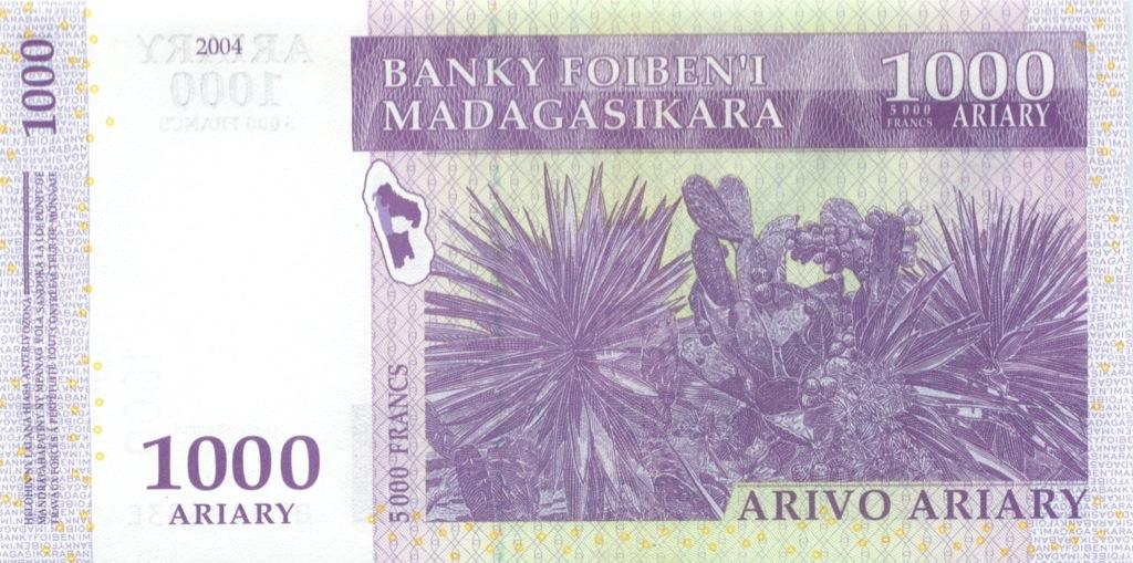 1000 ариари (Мадагаскар) 2004 года