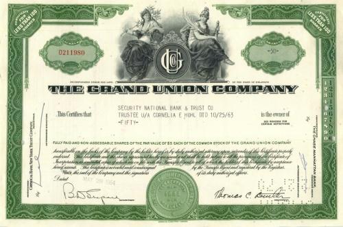 50 акций («The Grand Union Company») 1964 года (США)