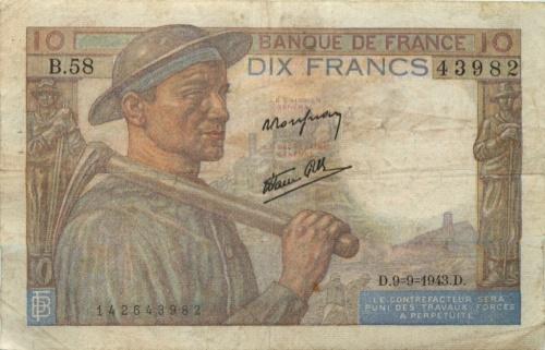 10 франков 1943 года (Франция)