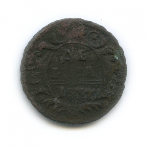 Денга (1/2 копейки) 1737 года (Российская Империя)