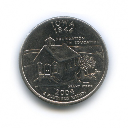 25 центов (квотер) — Квотер штата Айова 2004 года D (США)