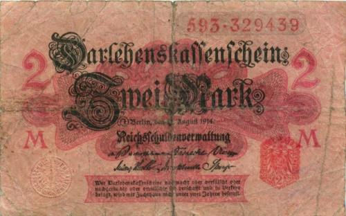 2 марки 1914 года (Германия)