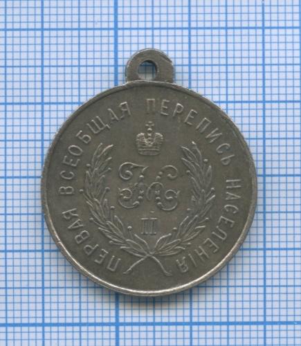 Медаль «За труды попервой всеобщей переписи населения 1897», Российская Империя (копия)
