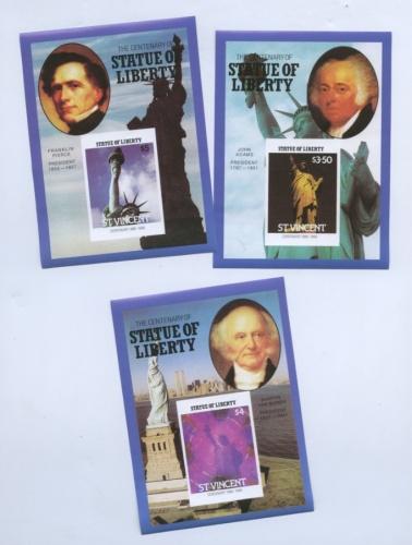 Набор почтовых марок «Статуя Свободы» (Сент-Винсент)