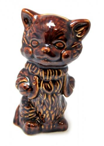 Копилка «Котик» (обливная керамика, 14,5 см)
