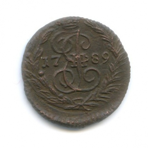 Полушка (1/4 копейки) 1789 года ЕМ (Российская Империя)
